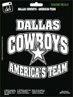 Dallas Cowboys Football America's Team NFL Sticker Vinyl Decal Car Window NEW on eBay