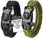 Paracord Bracelet K2-Peak-2pcs- Compass, Fire Starter, Emergency Knif фото