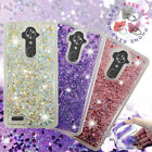 For ZTE Imperial Max, Max Duo LTE, Kirk Z988, Liquid Glitter Clear Case Cover