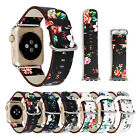 For iWatch Apple Watch Series 3 2 1 42mm Genuine Leather Band Strap Bracelet image