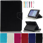 """Luxury PU Leather Slim Tablet Case Cover For Various 7"""" Android Table + Stylus"""