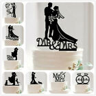 Внешний вид - Bride Groom Family Black/Golden Anniversary Mr and Mrs Love Wedding Cake Topper