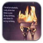 Refrigerator Magnets Style Alcohol Vintage 3.5x3.5 inch wooden Magnet with Wit