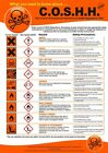 COSHH Health And Safety Poster A1 A2 A3 A4 Hazard Regulations Flammable Toxic