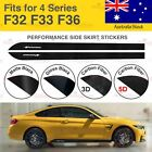 For BMW F32 F33 F36 4 Series M Performance Side Skirt Vinyl Decal Stickers AU
