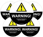 Repositionable Premium Grade Vinyl Window Warning Decals Set - Made in the USA