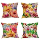 Hand-painted Floral Pattern Pillow Case Square Cushion Cover Home Decor 45*45cm