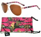 Hornz Pink Camouflage Polarized Wholesale Sunglasses HZ98025-32 Lots of 6-12