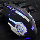 Ergonomic Pro Wired LED Light 4000DPI Optical Usb Gamer Gaming Mouse Metal Plate