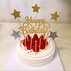 2pcs Sequins Glitter Bling Happy Birthday Cake Flag Cake Topper Party Home Decor