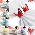 50pc Beautiful Paper Butterfly Napkin Ring Pearlescent Wedding Party Table Decor