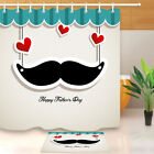 mustache shower curtain - Father's Day & Mustache Shower Curtain Liner Waterproof Polyester Fabric Hooks