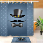 mustache shower curtain - Mustache with Bow Tie Father's Day Shower Curtain Liner Polyester Fabric