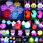 Baby Kid Bedroom Colorful LED Lamp Night Light Luminous Energy Saving Nightlight