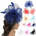 Ladies Flower Feather Looped Fascinator Headband Hat Royal Ascot Party