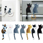 Cute Little Cat Magnetic Refrigerator Sticker Home Fridge Magnet Hanging Hook