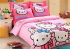 4pcs/set Hello Kitty Bedding Cotton Covers Pillow Case Quilt Sheet for Kids 1.5M