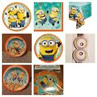 banner dos minions - Minions Despicable Me Birthday Party Supplies Plates Table Cover Napkins New