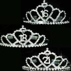 Bridesmaid Prom Heart Crystal Silver Plated Tiara for 16 years old 18 21 T084 UK