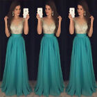 USA Women Formal Wedding Bridesmaid Long Evening Party Prom Gown Cocktail Dress фото