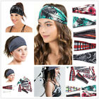 Leopard Striped Knotted Stretch Headband Elastic Yoga Turban Women Hair Band New