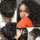 360 Lace Frontal Wig Glueless Indian Human Hair Curly Full Lace Wigs off Black