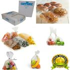CLEAR POLYTHENE PLASTIC FOOD APPROVED BAGS 400 GAUGE *ALL SIZES / QTYS*