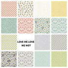 PATCHWORK/CRAFT FABRIC FAT QTR'S LEWIS & IRENE - LOVE ME LOVE ME NOT 15 DESIGNS