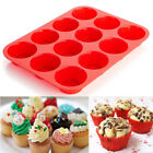 12 /24Cup Silicone Muffin Cupcake Baking Pan Non Stick Microwave Safe Cake Mold