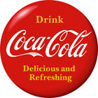 Drink Coca-Cola Red Disc Removable Wall Decal 1910s Style $14.49  on eBay