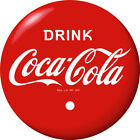 Drink Coca-Cola Red Disc Removable Wall Decal Restaurant Home1930s Button Style $56.99  on eBay