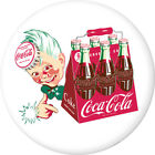 Coca-Cola Sprite Boy with 6 Pack White Removable Wall Decal Button Style