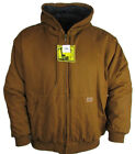 Buffalo Outdoors Men's Hooded Brown Canvas Work Jacket Style 16 2XL