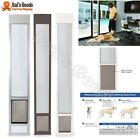 Patio Panel Pet Door Dog Cat Sliding Glass Aluminum Flap Exterior Doggie FastFit