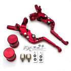 50-300cc Motorcycle Hydraulic Brake Clutch Master Cylinder Pump Levers Set Red