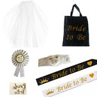 BRIDE TO BE ROSETTE VEIL SASH GARTER TATTOO HEN NIGHT PARTY ACCESSORY TEAM BRIDE
