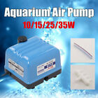 10/15/25/35W Electric Silent Aquarium Air Pump Fish Tank Pond Oxygen Hydroponics