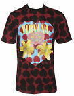 Authentic NIRVANA Heart Shaped Box Dye T-Shirt Maroon S M L XL 2XL NEW