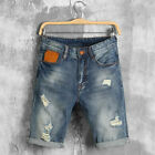 Summer Denim Shorts Men Jeans Mens Jean Shorts Hole Hip Hop Bermuda Skate