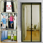 Mesh Magnetic Fly Bug Snap Screen Mosquito Door Curtain Hands Free Black/WhiteGG