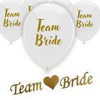 16 TEAM BRIDE HEN PARTY NIGHT DO BALLOONS & BANNER DECORATION GOLD BRIDE TO BE