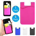 Lot Silicone Credit Card Pocket Money Wallet Pouch Holder Case for Cell Phone