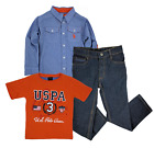 U.S. Polo Assn. Multi Plaid Boys' 3 Piece Set 4,5,6,7