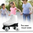 4 wheeled roller skates - Double Roller Skates 4 Wheels Lace-up Skate Shoes with Colorful LED Light RM
