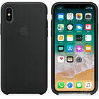 UltraThin Original Genuine Silicone Leather Case Cover For iPhone X 6s 7 8 Plus <br/> Original Silicone Cover NEW For iPhone XS XR XSMAX