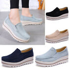 Leather Platform Moccasins Flats Women Casual Slip on Sneakers Fashion Shoes New