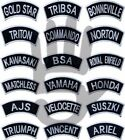 WHITE Traditional-Motorcycle-Shoulder-Title-Patches-Sew/Iron on patches badges £1.99 GBP on eBay