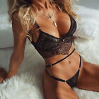 US Sexy Lingerie Set Bra Women Nightwear Underwear Sleepwear + G-string Babydoll