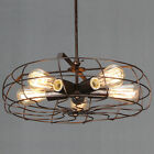 Retro Steampunk Chandelier 5-light Barn Warehouse Pendant Light with Cage