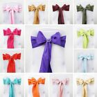 Polyester CHAIR SASHES Bows Ties Wedding Reception Decorations Wholesale